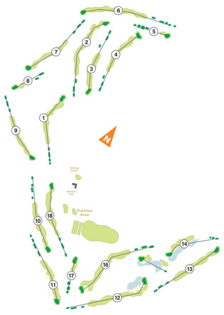 Course Map Ribagolfe I