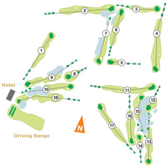 Course Map Aroeira II Golf Course
