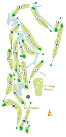 Course Map Golfe do Montado