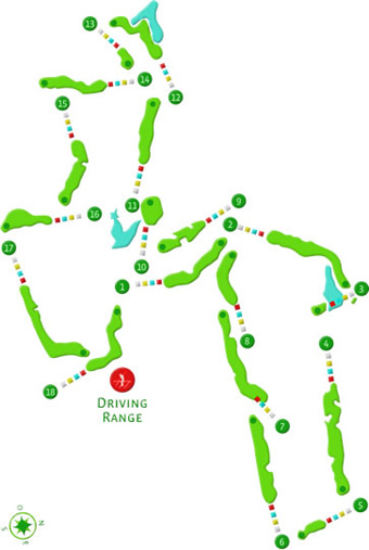 Course Map  Bom Sucesso Golf Guardian